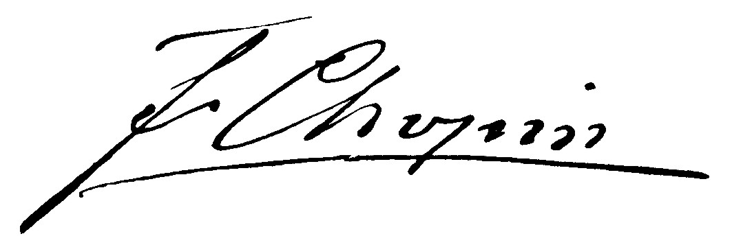 Chopin Unterschrift